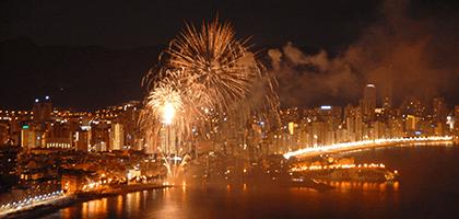Fiestas Mayores Benidorm fuegos artificiales