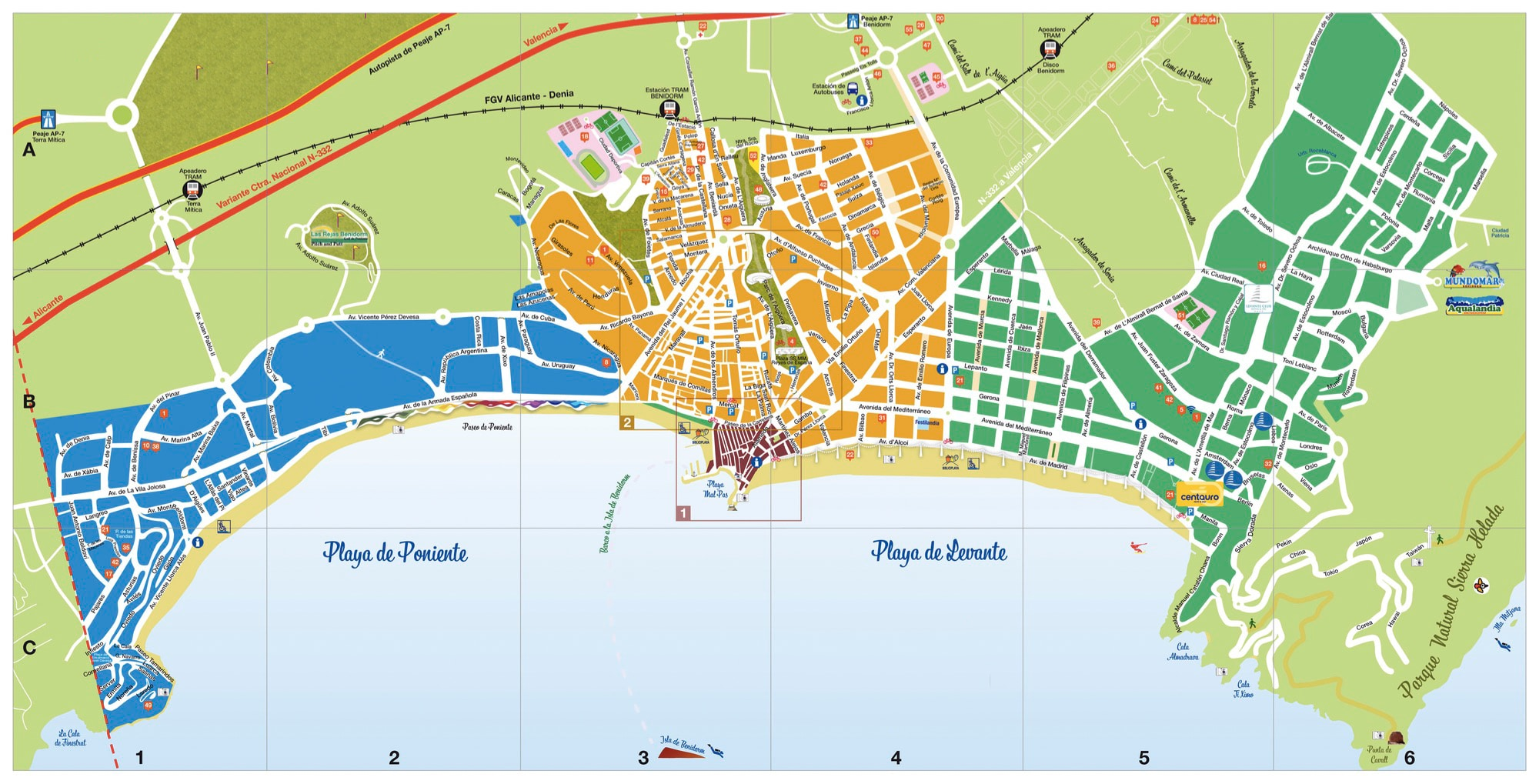Rincon De Loix Mapa.The 10 Best Plans To Do In Benidorm Arena Blanca Blog