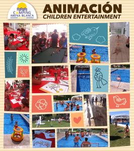 Camping para niños con animación
