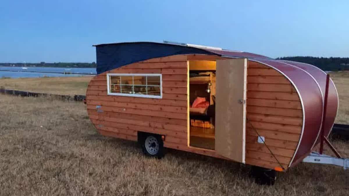 Caravana de madera