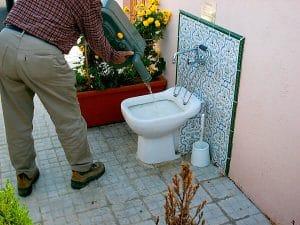 Vaciado del WC químico