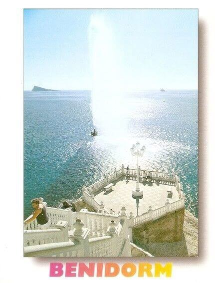 Antigua postal del Géiser de Benidorm