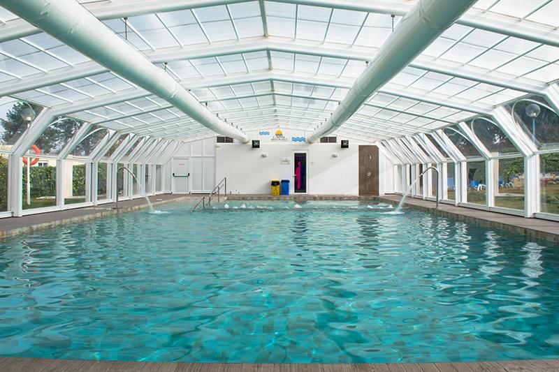 Camping con piscina climatizada